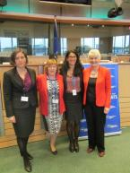 Marian with members of the European Institute for Gender Equality (EIGE) following the Launch of the Gender Equality Index.