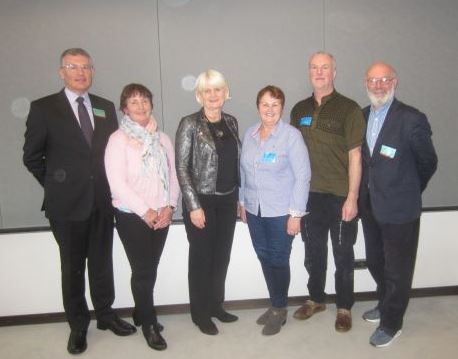 Pictured in the European Parliament were (L to R): John Dunne, CEO, Family Carers Ireland and President of Eurocarers; Mary Davitt, Strandhill Rd.; Marian; Frances Taheny, Pearse Rd., Barry Brennan, Martin Savage Terrace and Frank Goodwin, Former President of Eurocarers and founder member of The Carers Association.