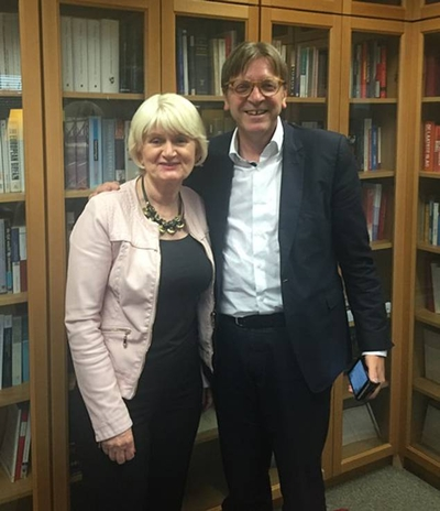 The leader of my Group in the European Parliament, Guy Verhofstadt, is the lead negotiator for the European Parliament on Brexit. I have met with him to outline Ireland's particular concerns and the need to have them adequately considered in any Brexit agreement.